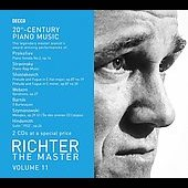 Richter The Master Vol 11 - 20th Century Piano Music