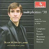 Multiplicities 38 - Music by Composers Born in 1938 - Corigliano, Bolcom, etc / Blair McMillen