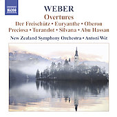 Weber: Overtures / Wit, New Zealand SO