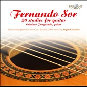 Fernando Sor: 20 Studies for Guitar - First recording based on the new Curci Ed. (2008) / Angelo Gilardino, guitar