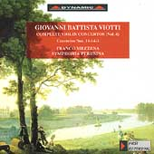 Viotti: Violin Concertos Vol 4 / Mezzena, Symphonia Perusina