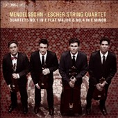 Mendelssohn: String Quartets No. 1 in E flat major & No. 4 in E minor / Escher String Quartet