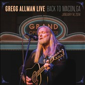 Gregg Allman: Gregg Allman Live: Back to Macon, GA [2CD/1DVD] [Digipak]