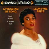 Living Stereo - A Program of Song / Leontyne Price