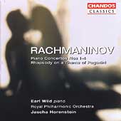 Rachmaninov: Piano Concertos no 1-4, Rhapsody / Wild, et al