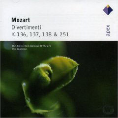 Mozart: Divertimenti K.136 - 138, K.251