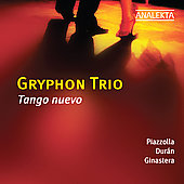 Tango nuevo - Piazzola, Duran, Ginastera / Gryphon Trio