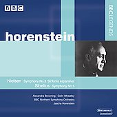 Nielsen: Symphony no 3;  Sibelius: Symphony no 5, etc / Horenstein, Browning, Wheatley, et al