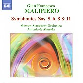 Malipiero: Symphonies Nos. 5, 6, 7 & 11 / Antonio de Almeida, Moscow SO