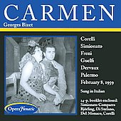 Bizet: Carmen / Corelli, Freni, Guelfi, Simionato, et al