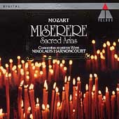 Mozart: Miserere - Sacred Arias / Harnoncourt