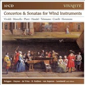 Concertos & Sonatas for Winds by Vivaldi, Marcello, Platti, Handel, Telemann, Corelli & Hotteterre / Jozef Brüggen, Barthold Kuijken, flute; Anner Bylsma, cello; Orchestra of the 18th Century