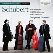 Schubert: Complete String Quartets, Vol. 3 - 5 Menuets and 5 German Dances D89; String Quartets D18 & D68 / Diogenes Quartet