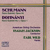 Schumann, Dohnanyi: Piano Quintets / Wild, Jackson, American