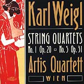 Weigl: String Quartets no 1 & 5 / Artis Quartett Wien