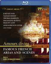 'Amours Divins!' - Famous French Arias and Scenes by Offenbach, Bluck and Thomas / Felicity Lott, Anne Sofie von Otter, Paul Groves, Magdalena Kozena, Thomas Hampson, Natalie Dessay, Jose van Dam [Blu-ray]
