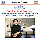 Higdon: Piano Trio, Voices, Impressions / Meyers, et al