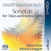 Bach: Sonatas for Flute and Harpsichord / Folena, Loreggian