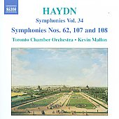 Haydn: Symphonies Vol 34 / Mallon, Toronto Chamber Orchestra