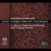 Telemann: 12 Sonatas for Solo Flute and Continuo / Munich Chamber Music, Schmidt-Casdorff, Utiger, et al