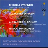 Russian Orchestral Works by Glazunov, Lysenko, Scriabin & Myaskovsky / Stefan Blunier