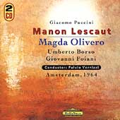 Puccini: Manon Lescaut / Vernizzi, Olivero, Borso, et al