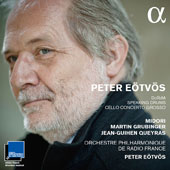 Péter Eötvös (b. 1944): DoReMi; Speaking Drums; Cello Concerto Grosso / Midori, violin; Martin Grubinger, percussion; Jean-Guihen Queyras, cello; French Radio Orchestra, Peter Eötvös