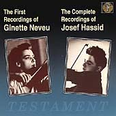 First Recordings of Neveu; Complete Recordings of Hassid