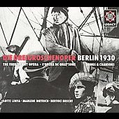 Weill: Die Dreigroschenoper - Berlin 1930 / Mackeben, et al
