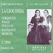Ponchielli: La Gioconda / Tieri, Cerquetti, Poggi, et al