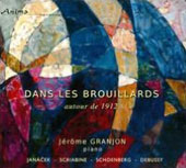 Dans Les Brouillards - works by Janacek, Debussy and Scriabin / Jérôme Granjon, piano