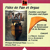 Flute de Pan et Orgue - Vecchi, Facoli, et al / Haas, Rodi
