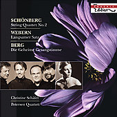 Schoenberg: String Quartet Op 10 no 2, etc / Christine Sch&auml;fer, Petersen Quartet