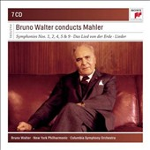 Bruno Walter Conducts Mahler - Symphonies nos 1, 2, 4, 5 & 9; Das Lied von der Erde, Lieder / Cleveland SO; New York PO [7 CDs]