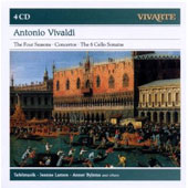 Antonio Vivaldi: The Four Seasons; Concertos; Cello Sonatas (6); Cello Concerto in A minor; Cello Concerto in D major / Jeanne Lamon, violin.  Anner Bylsma, cello. Tafelmusik [4 CDs]