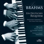 Brahms: German Requiem for Piano 4-Hands / Hans-Peter & Volker Stenzl. Stefan Fleming, Reciter
