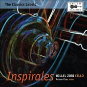 Inspirales - works written & inspired by great cellists of the past - Tortelier, Popper, Starker et al. / Hillel Zori: cello; Arnon Erez: piano