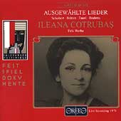 Schubert, Britten, Brahms, et al: Lieder / Cotrubas, Werba