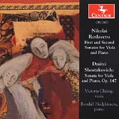Roslavets, Shostakovich: Sonatas for Viola and Piano