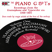 The Piano G & Ts Vol 1 / Pachmann, Michalowski, Ronald