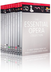 The Essential Opera Collection - 10 Complete Operas: Rigoletto, Marriage of Figaro, Walkure, Don Giovanni, L'Orfeo, Tales of Hoffmann, Tosca, Aida, Il Trovatore, Carmen [19 DVDs]