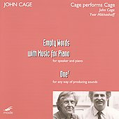 John Cage Edition Vol 41 - Cage performs Cage - Empty Words, One 7 / Mikhashoff