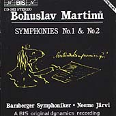 Martinu: Symphonies no 1 & 2 / Järvi, Bamberg SO