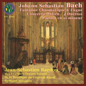 J.S. Bach: Chromatic Fantasia and Fugue; Italian Concerto; 4 Duets; Partita in B minor / Jean-Sébastien Bardon, organ