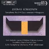 Kokkonen: Symphony no 3, Requiem, Opus Sonorum / Soderblum