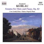 Kuhlau: Sonatas for Flute and Piano Op 83 / Grodd, Napoli
