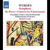 Webern: Symphony, Six Pieces, etc / Craft, Philharmonia