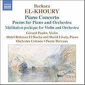 El-Khoury: Piano Concerto, etc / Dervaux, Orchestre Colonne