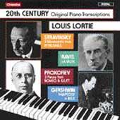 20th Century Original Piano Transcriptions / Louis Lortie
