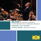 Mozart: Clarinet Concerto; Bassoon Concerto; Flute Concerto / Carbonare Zoon; Santana. Abbado, Orchestra Mozart